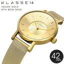 正規販売店 2年保証 KLASSE14 クラス14 クラッセ 腕時計 42mm VOLARE GOLD ROSE GOLD メッシュバンド ゴールド メンズ レ...