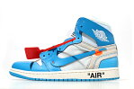 未使用品 NIKE AIR JORDAN 1 × OFF-WHITE RETRO HIGH POWDER BLUE ナイキ エアジョーダン1 オフホワイト US9 27cm AQ0818-148/● メンズ  180706 ベクトル 新都リユース