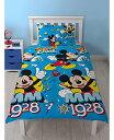 ディズニー ミッキーマウス シングル 布団カバー+枕カバー セット