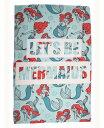 ディズニー リトルマーメイド アリエル フリース ブランケット 毛布 ひざ掛け 100cm x 150cm Disney Little Mermaid Ariel fleece blanket