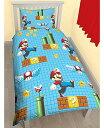 スーパーマリオ Super Mario シングル 布団カバー+枕カバーセット 4073