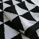タオル【白黒】トライアングル ハンドタオル