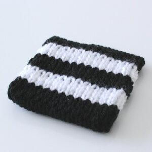 【白黒】WashWashアクリルたわしボーダーストライプ