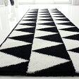【白黒】トライアングル キッチンマット 60cm× 240cm [北欧] 【 インテリア雑貨 モノトーン/モノクロ 】