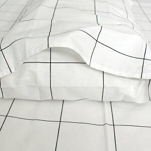 【白黒】グラフチェックピローカバー