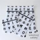 ランドリーネット モノトーン 【ランドリーネット】アルファベット ランドリーネット 角型3枚セットの写真