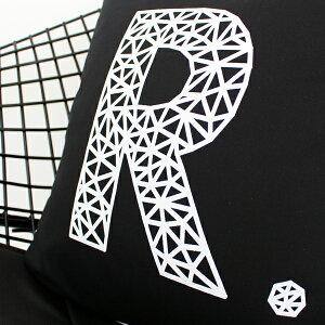 【白黒】POLYGONRクッションカバー【インテリア雑貨モノトーン/モノクロ】