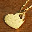 k18 ネックレス ネームネックレス パターンデザイン『ハート』18金 ゴールド GOLD 首飾り necklace 最短5営業日で発送!
