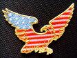 アメリカンイーグルミニワッペン【メール便の場合送料無料】【アイロン接着】【国旗】【鷹】