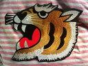 虎ワッペン「特大」【ネコポスOK】【アイロン接着付き】【寅】【和柄】【タイガー】【阪神】