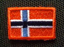 ミニノルウェーワッペン「2枚セット」【ネコポスOK】【アイロン接着】【国旗】【パッチ】