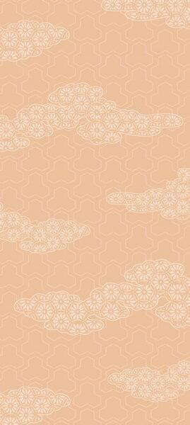 おしゃれ ふすま紙 おりひめ(雲に菊)デザイン襖...の商品画像