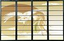 オシャレなデザイン衝立 「白鳳」 黒ヨコ桟 (衝立/間仕切り/屏風/パーテーション/おしゃれ/和風/ついたて/パーティション/和柄)