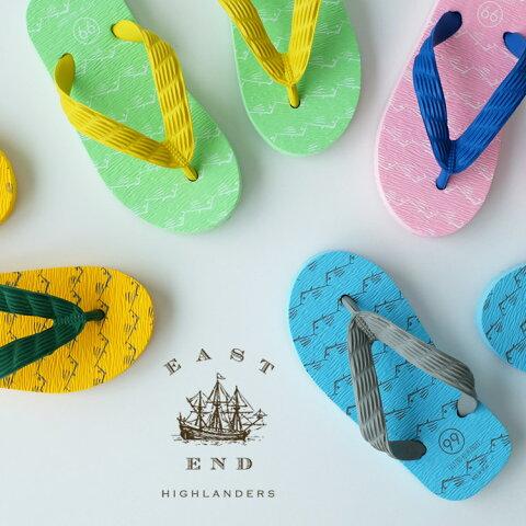 EAST END HIGHLANDERS(イーストエンドハイランダーズ)日本製キッズビーチサンダル(TSUKUMO 九十九 子供用 ビーサン)