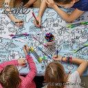 楽天シゼム楽天市場支店eat sleep doodle(イート スリープ ドゥードゥル)world map tablecloth(お絵描きできるテーブルクロス)(キッズ お絵描き らくがき ペン カラフル 知育 ぬり絵 地図 マップ 世界地図 お出かけ テーブルクロス プレイスマット プレゼント ギフト)