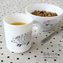 松尾ミユキミルクガラスマグカップ(マグ カップ コーヒー 紅茶 ナチュラル ガラス マグカップ 北欧 かわいい ネコ クマ ハリネズミ シロクマ)