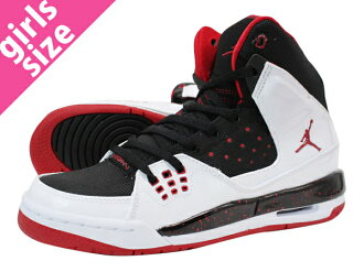 NIKE AIR JORDAN SC-1 GS Nike Air Jordan SC 1 GS WHITE/BLACK/RED fs3gm