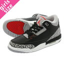 【大人気の女の子サイズ♪】 NIKE AIR JORDAN 3 RETRO OG BG 【BLACK CEMENT】 ナ...
