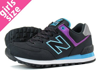 NEW BALANCE WL574WBK-new balance WL574WBK BLACK/PURPLE/BLUE