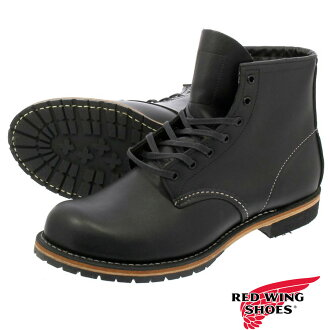RED WING BECKMAN BOOT ROUND TOE BLACK 9014
