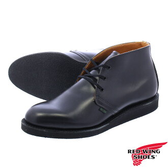 RED WING POSTMAN CHUKKA BOOT BLACK 9196