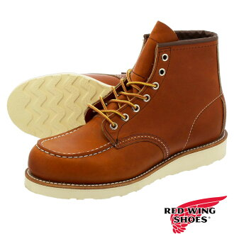 REDWING IRISH SETTER 6INCH CLASSIC MOC TOE BOOT BROWN OIL 875