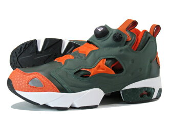 Reebok PUMP FURY Reebok pump fury DARKEST OLIVE/BLAZING ORANGE