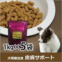 犬用食事療法食 皮膚サポート1kg×5袋(デイリースタイル/ベニソン/国産/無添加/鹿肉ドッグフード/犬)