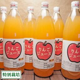 「ポイント10倍」りんご100%ジュース 6本入(1本1000ml)(青森県 阿部農園)青森健康りんごジュース・低農薬・無添加・送料無料