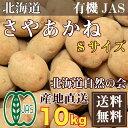 さやあかね(馬鈴薯) Sサイズ 10kg 有機JAS (北海道自然の会) 産地直送