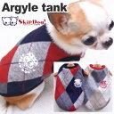 【チワワ 服 冬】SkipDog! アーガイル起毛タンク (チワワ 小型犬 犬の服 ドッグウェア 犬服 フリース 温か 保温)