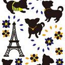 【チワワ ステッカー】インテリアデコ ウォールステッカー チワワ (チワワ 小型犬 壁紙 シール インテリア)
