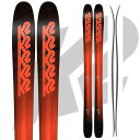 K2 ケーツー 17-18 スキー Ski 2018 Pinnacle 105 ピナクル 105 [板のみ] オールマウンテン パウダー ロッカー (-):