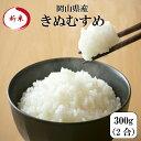新米 令和元年産 ポイント消化 送料無料 お試し お米 食品 安い 1kg以下 岡山県産きぬむすめ 300g(2合)1袋 メール便