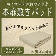 本麻敷きパッドセミダブル(120×205cm)丸洗いOK! 冷却マット 敷きパット 敷パッド 敷パット ベッドパッド ベッドパット ベットパット 【在庫処分セール】