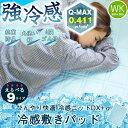 冷感ニットDX-α ワイドキングサイズ 200×205cm 接触冷感 接触冷感敷きパッド ひんやり敷パッド ひんやりマット 冷感パッド クール敷きパッド 夏用 洗える 速乾 ベッドパッド