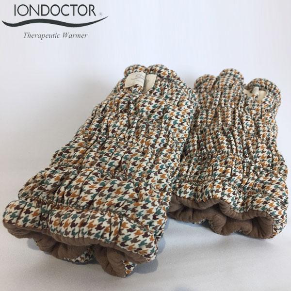 イオンドクター 足首ウォーマー 千鳥格子柄 2本組(わた入りサポーター)iondoctor 冷え対策