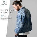デニム ジャケット Gジャン メンズ(アウター ミリタリー ブルゾン 冬 ジージャン ランチジャケット ビッグシルエット)(30代ファッション 40代 おしゃれ)
