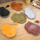 モコモコした形がかわいい小銭入れ、マルチケース「Air」【全て手縫いの本革財布、コインケース】