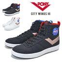 【割引クーポン配布中】 PONY × NASA ポニー × ナサ CITY WINGS EV1 HI シティウィング ハイ ハイカット スニーカー 靴 シューズ ブラック ホワイト G2031CW01 G2031CW02