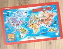 アメリカ CrocodileCreek クロコダイルクリーク プレイスマット-ワールドマップ