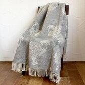 ウール ブランケット 大判 フィンランド Barker Textile バーカーテキスタイル CURRY LAMBS-ホワイト