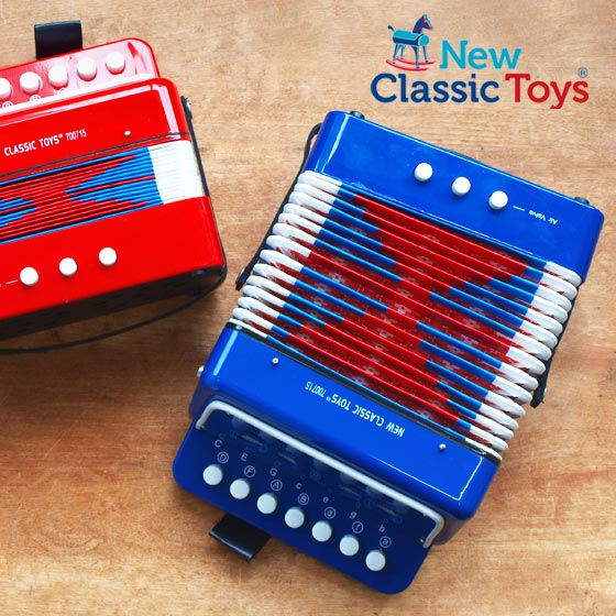 アコーディオン楽器おもちゃオランダNewClassicToysニュークラシックトイズアコーディオンS