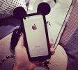 iPhone6s/6/Plus/5s/5 バンパー・フレーム シリコンラバー マウスの耳 かわいいおしゃれ人気 アイフォン スマホケース スマートフォンカバー アイフォン アイホン Apple 未発売 au docmo ソフトバンク 最新 送料無料配送 保護フィルム付き 特典多数 国内即納即発