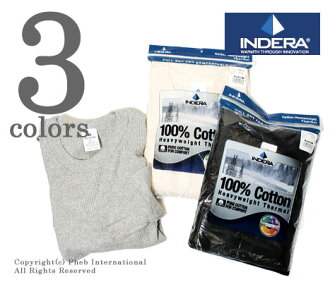 [Review at Serb rice! ] INDERA MILLS 100% cotton, 6.5 oz heavyweight thermal long T (839 LS)