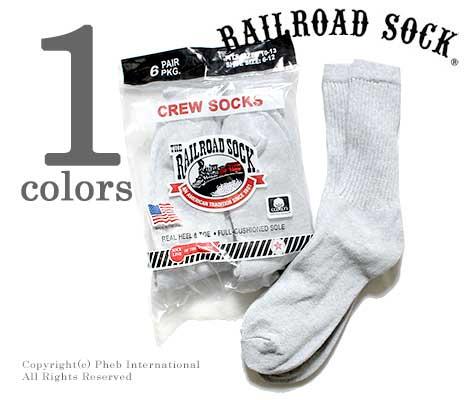 レイルロードソック/RAILROAD SOCK アメリカ製 ''6P SWEAT GRY''クルーソックス/靴下(MEN'S 6 PAIR CREW-SWEATSHIRT GREY(6072))