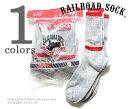 楽天フェブインターナショナルレイルロードソック/RAILROAD SOCK アメリカ製 ''6P BOOT SOCKS''クルーブーツソックス/靴下(6-PAIR BAG CREW BOOT SOCK-RED TOP AND STRIPE(6014))