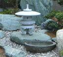【送料無料】雪見燈籠(1.5尺・丸型)【御影石】日本庭園の定番商品!!和風を彩る必須アイテム!!庭石