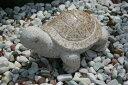【縁起物】 石の亀(錆石)【送料無料】亀は【万年】長寿のシンボル石の彫刻品でできたかわいぃ亀さんです玉砂利や庭石の上などにもピッタリ♪【亀のオーナメント】