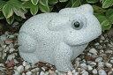 【送料無料】【縁起物】御影石のカエル玉砂利や庭石の上にピッタリです♪【ガーデニングオーナメント】【カエルの置物】
